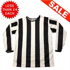 Clearance Football Shirts - 7 x Black / White (Small)