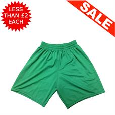 Clearance Football Shorts - Bundle of 8 x Green (Small)