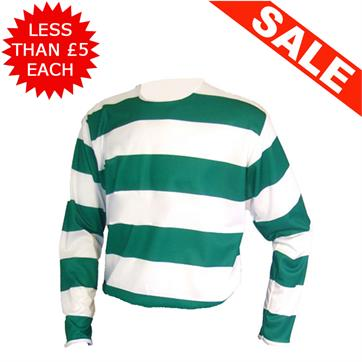 Clearance Football Shirts - 15 x Green / White (Med)