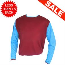 Clearance Football Shirts - 13 x Maroon / Sky (Large)