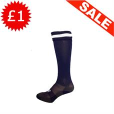 Clearance Football Socks - Navy / White Band (2-6)