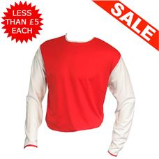 Clearance Football Shirts - 15 x Red / White (Med)