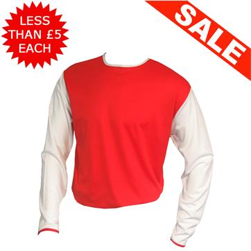Clearance Football Shirts - 6 x Red / White (Large)