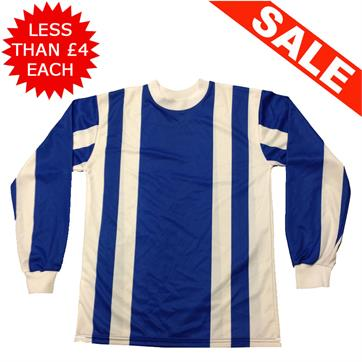 Clearance Football Shirts - 15 x Royal / White (Small)
