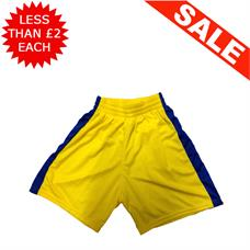 Clearance Football Shorts - Bundle of 13 x Yel / Blue (Med)
