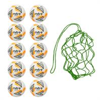 Net of 10 Mitre Impel Plus Training Football 2018 (3,4,5)