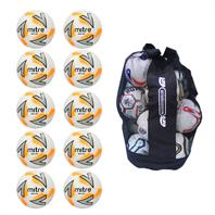 Ball Sack of 10 Mitre Impel Plus Training Footballs 2018 (3,4,5)