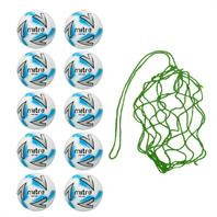 Net of 10 Mitre Impel Max Training Footballs 2018 (3,4,5)