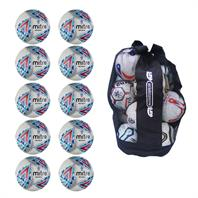 Ball Sack of 10 Mitre Delta EFL Replica Footballs (Sizes 3,4,5)