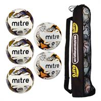 Mitre Match Day Ball Tube Bundle 3 (3 Impel & 2 Ultimatch Hyperseam)