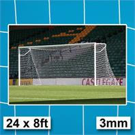 Harrod 3mm Heavy Duty Socketed Goal Post Nets (PAIR) (24 x 8ft)