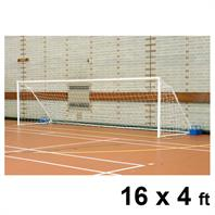 Harrod Fold-away Steel Goal Posts (PAIR) (16 x 4ft)