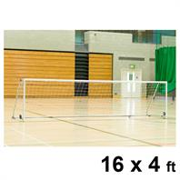 Harrod Folding Wheelaway Steel Goal Posts (PAIR) (16 x 4ft)
