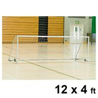 Harrod Folding Wheelaway Steel Goal Posts (PAIR) (12 x 4ft)