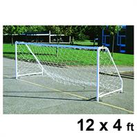 Harrod FS6 Permanent Steel Goal Posts (PAIR) (12 x 4ft)