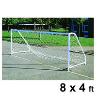 Harrod FS6 Permanent Steel Goal Posts (PAIR) (8 x 4ft)