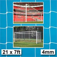 Harrod 4mm Box Profile Euro Goal Nets (PAIR) (21 x 7ft) for Socketed & Fence Folding Goals