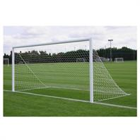 Harrod 3G Parks Socketed Aluminium Goal Posts - With Drop In Lids (PAIR) (16 x 7ft)