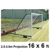 Harrod 3G Steel Fence Folding Goal Posts (2.3 - 3.5m Projection) (16 x 6ft) (Pair)