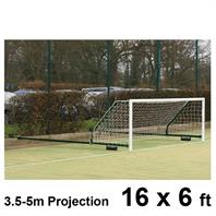 Harrod 3G Steel Fence Folding Goal Posts (3.5 - 5.0m Projection) (16 x 6ft) (Pair)