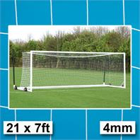 Harrod 4mm Euro Portagoal Box Section Goal Nets (PAIR) (21 x 7ft)