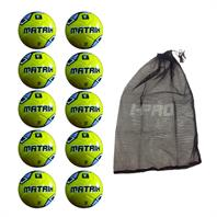 Net of 10 iPro Matrix Training Footballs