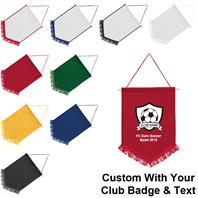 Club Pennants with Printed Logos (Pack of 10)