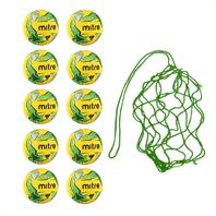Net of 10 Soft Touch Mitre Fluo Impel Training Balls