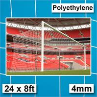 Harrod 4mm Polyethylene Goal Nets Box Section (PAIR) (24 x 8ft)