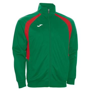 Joma Champion III Full Zip Poly Jacket - Green/Red