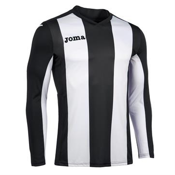 Joma Pisa Stripe Long Sleeve Shirt - Black/White