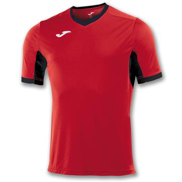Joma Champion IV Short Sleeve Shirt - Red/Black