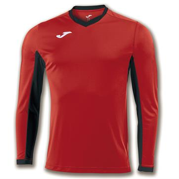 Joma Champion IV Long Sleeve Shirt - Red/Black