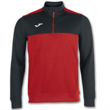 Joma Winner 1/2 Zip Sweatshirt Top - Red/Black