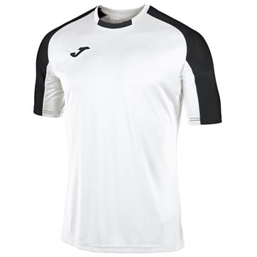 Joma Essential Short Sleeve Shirt - White/Black