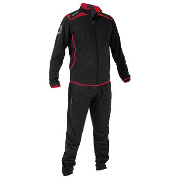 Stanno Forza Poly Full Tracksuit - Black / Red / White
