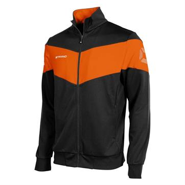 Stanno Fiero Poly Full Zip TTS Jacket - Black/Orange