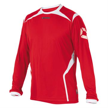 Stanno Torino Football Shirt (Long Sleeve) - Red / White
