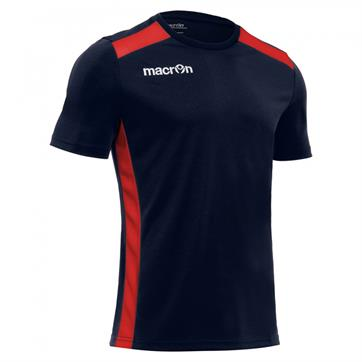 Macron Sirius Shirt (Short Sleeve) - Navy / Red