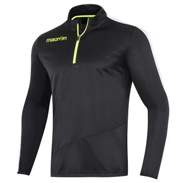 Macron Talent 1/2 Zip Invic-Tex Pro Polyester Top (Slim Fit) - Black / Grey / Neon Yellow