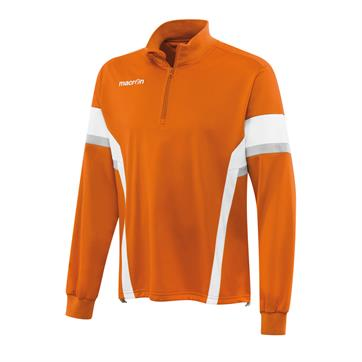 Macron Expert 1/2 Zip Brushed Fleece Polyester Top - Orange / White