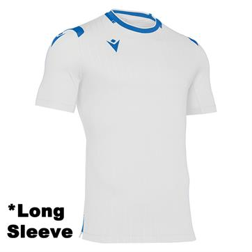 Macron Alhena Long Sleeve Shirt - White/Royal