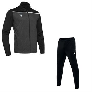 Macron Gea Full Poly Tracksuit - Black/White