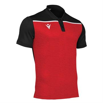 Macron Jumeirah Polo Shirt - Red/Black