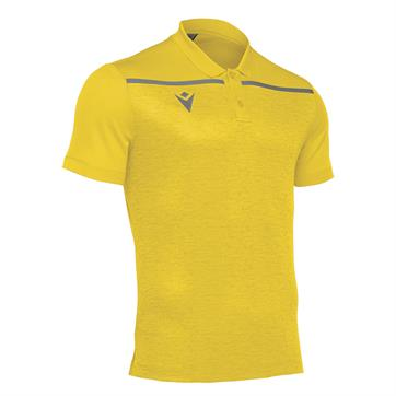 Macron Jumeirah Polo Shirt - Yellow/Anthracite