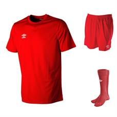 Umbro Club Football Kit Set including short sleeve shirt, short and socks