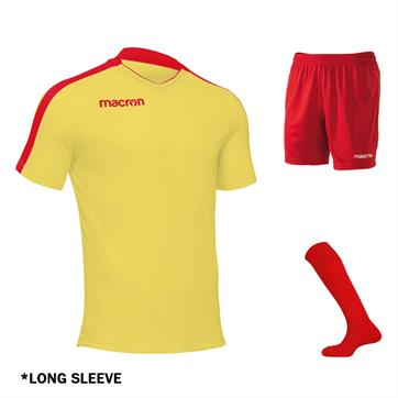 Macron Earth Full Kit Bundle of 15 (Long Sleeve) - Yellow/Red