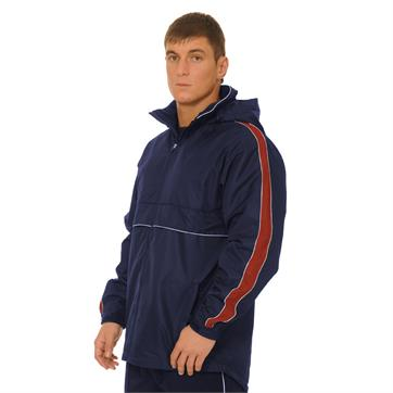 Pro Team Training Showerproof Jacket - Navy / Maroon / White