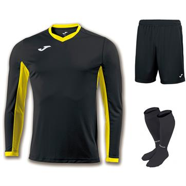 Joma Champion IV Full Kit Bundle of 10 (Long Sleeve) - Black/Yellow