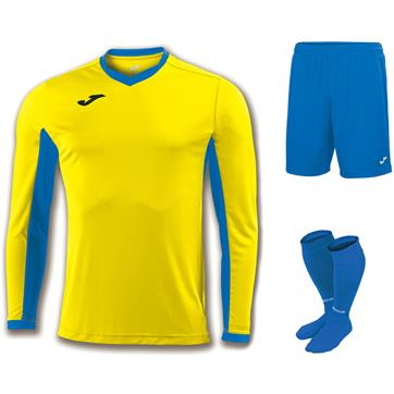 Joma Champion IV Full Kit Bundle of 10 (Long Sleeve) - Yellow/Royal